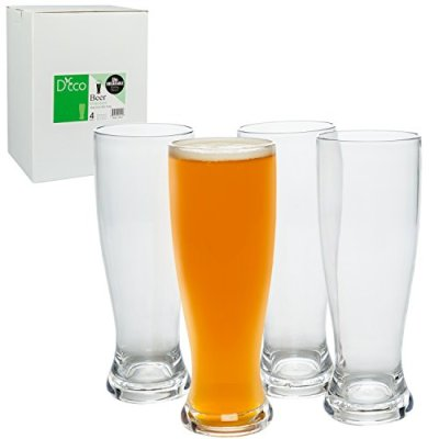 Unbreakable-Beer-Glasses-100-Tritan-Shatterproof-Reusable-Dishwasher-Safe-Set-of-4-by-DEco-0