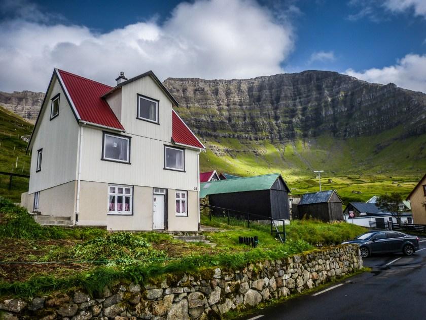 Faroe Islands Kunoy Färöer Inseln Haus