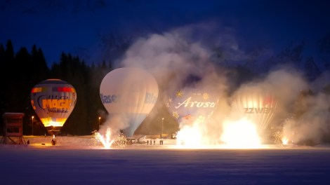 Hot Air Balloon Alpine Week Arosa-1100346