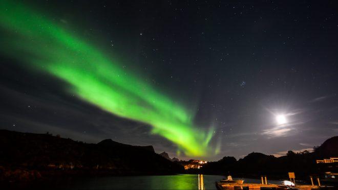 Polarlichter sind weiss