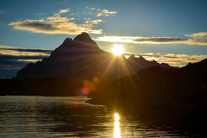 Vågakallen Lofoten Norway Sunset