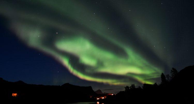 weisse Polarlichter