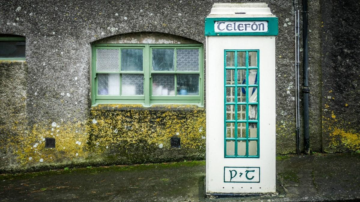 Irland alte Telefonkabine
