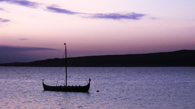 Wikinger Viking Shetland Up Helly Aa boat boot