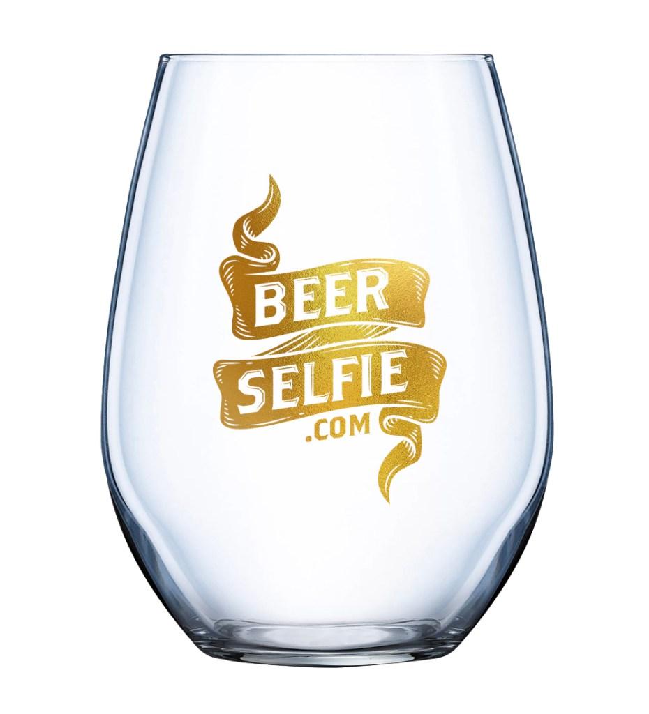 BeerSelfie.com Glass