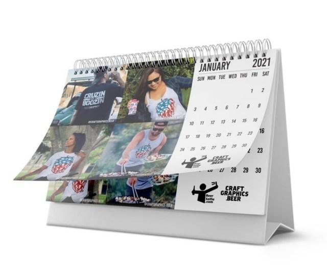 beer selfie calendar mockup