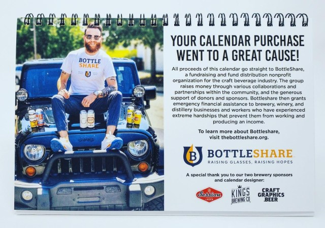 beer selfie calendar