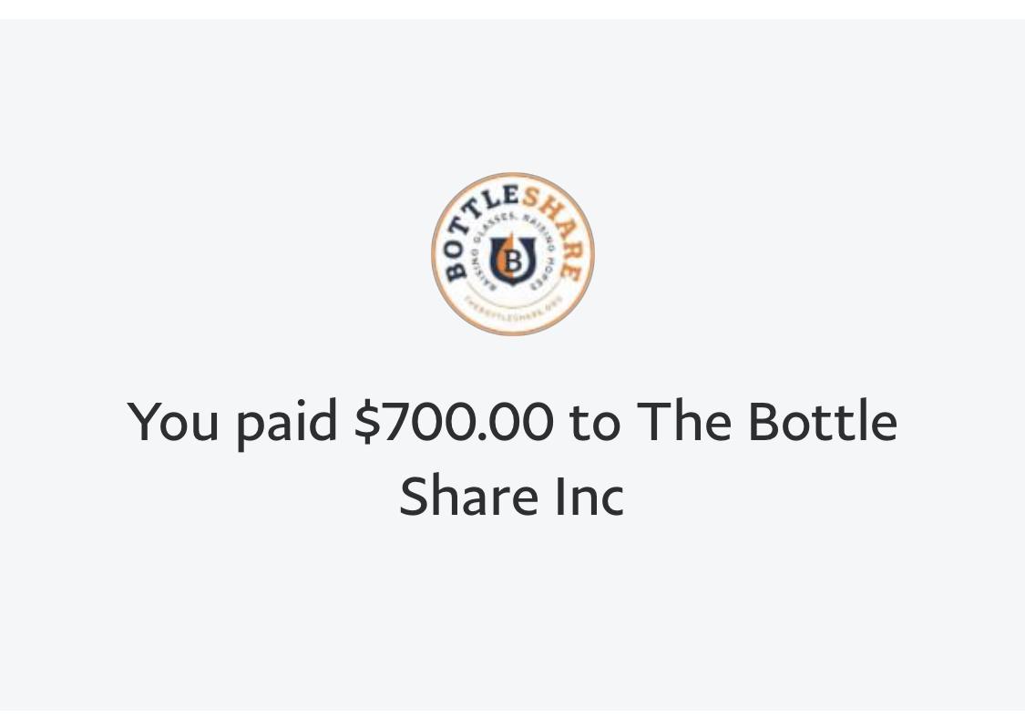 Bottleshare donation