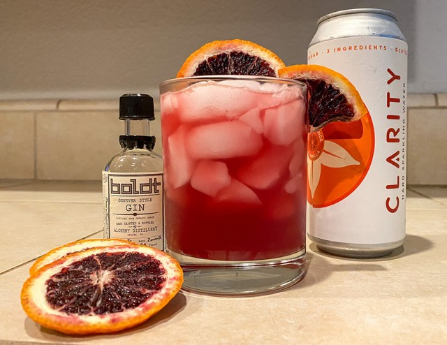 Clarity Blood Orange cocktail