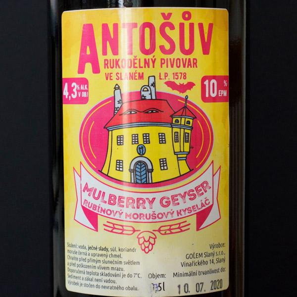 Mulberry Geyser 10° (Antoš) 0.75L