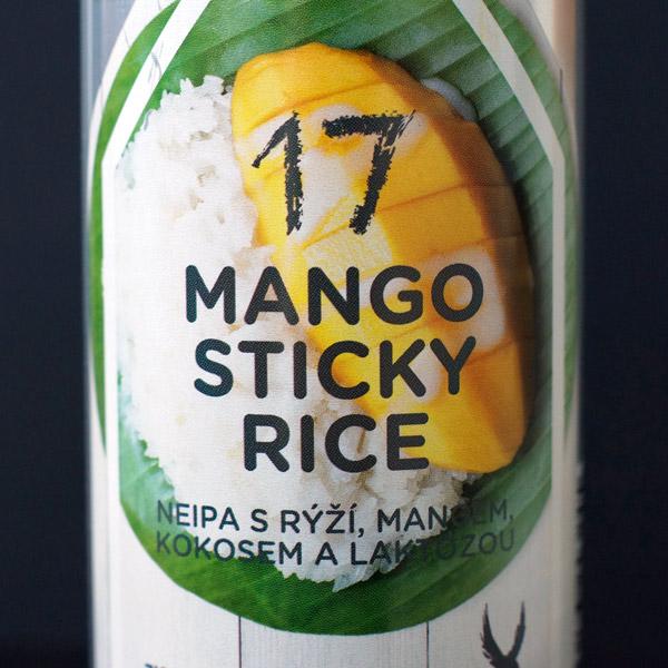 Mango Sticky Rice 17; Zichovec plechovka; Mango Sticky Rice Zichovec; NEIPA; Beer Station; pivo e-shop; remeselné pivo; remeselný pivovar; craft beer Bratislava; živé pivo