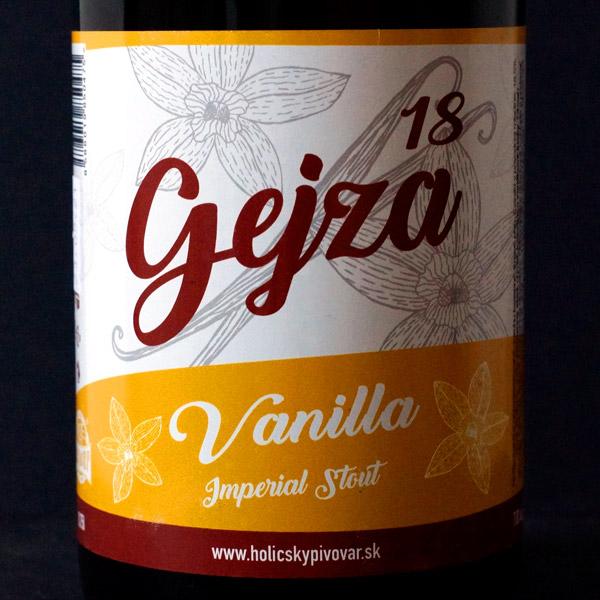 WYWAR; Gejza Vanilla 18°; Craft Beer; Remeselné Pivo; Živé pivo; Beer Station; Fľaškové pivo; Stout; Distribúcia piva; pivo; Imperial Stout