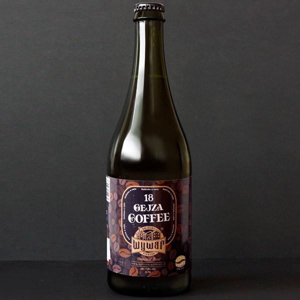WYWAR; Gejza Coffee 18°; Craft Beer; Remeselné Pivo; Živé pivo; Beer Station; Fľaškové pivo; Stout; Distribúcia piva; pivo; Imperial Stout