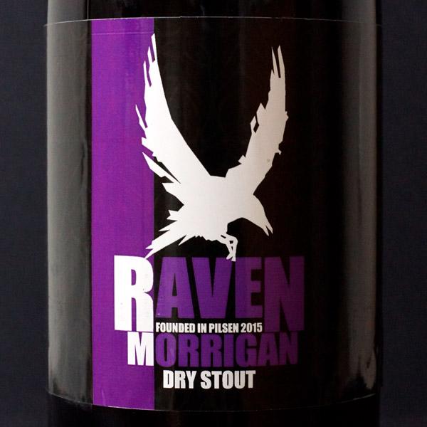 Raven; Morrigan 13; Stout; Beer Station; pivo e-shop; remeselné pivo; remeselný pivovar; craft beer Bratislava; živé pivo; pivo; Distribúcia piva; Dry Stout; Tmavé pivo