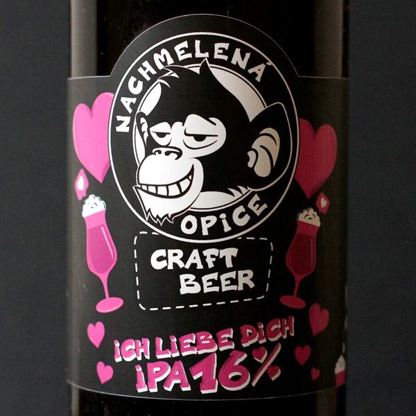 ch Liebe Dich IPA 16; Nachmelena Opice; Pivo Nachmelena Opice; Pivo Opica; Distribúcia piva; pod vrchnakom; pivo