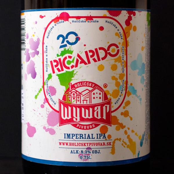 WYWAR; Ricardo; Craft Beer; Remeselné Pivo; Živé pivo; Beer Station; Fľaškové pivo; IPA; Double IPA; Imperial IPA; Draft beer