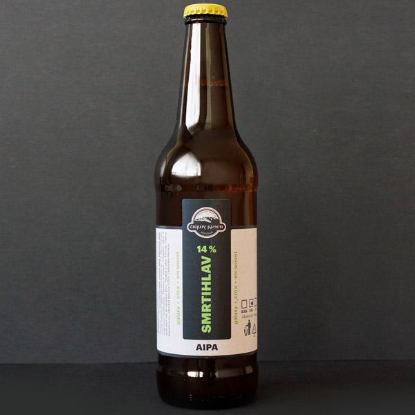 Čierný kameň; Smrtihlav 14; Craft Beer; Remeselné Pivo; Živé pivo; Beer Station; Fľaškové pivo; American IPA; pivovar Čierny Kamen; pivo so sebou; IPA