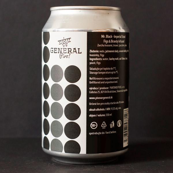 Pivovar General; Mr. Black; Imperial Stout - Figs & Brandy; Beer Store; Craft Beer; Imperial Stout; mr black