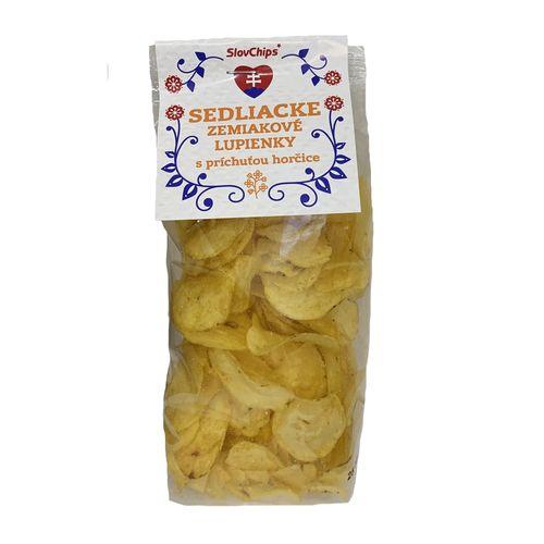 Sedliacke zemiakové lupienky horčicové; sedliacke lupienky; lupienky; slovenský výrobok