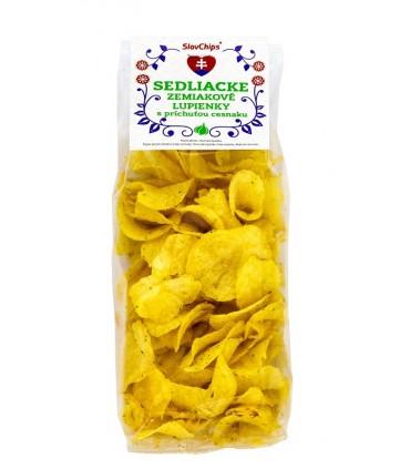 Sedliacke zemiakové lupienky cesnakové; sedliacke lupienky; lupienky; slovenský výrobok