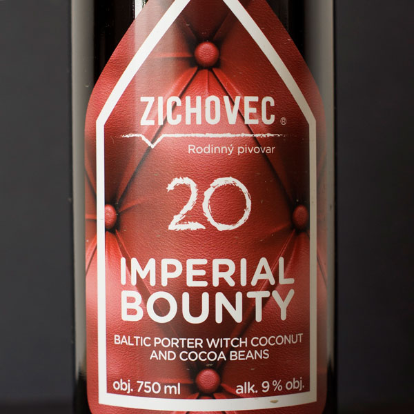 Zichovec; Imperial Bounty 20°; tmavé pivo; Beer Station; pivo e-shop; remeselné pivo; remeselný pivovar; craft beer Bratislava; živé pivo; Baltic Porter