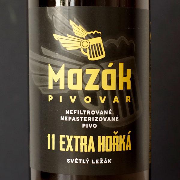 Mazák; Extra Hořká 11°; Rozvoz piva; Remeselné pivo; Živé pivo; Beer Station; Remeselný pivovar ; Lager