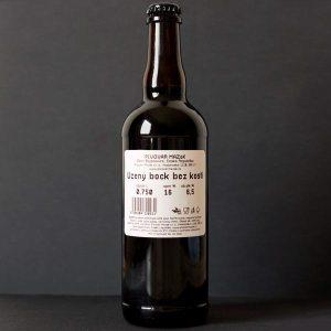 Mazák; Uzený Bock Bez Kosti 16°; Rozvoz piva; Remeselné pivo; Živé pivo; Beer Station; Remeselný pivovar; Rauchbock