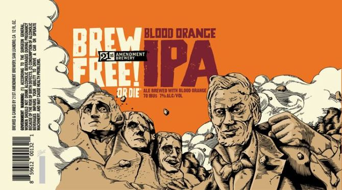 21st Amendment Brew Free or Die Blood Orange IPA