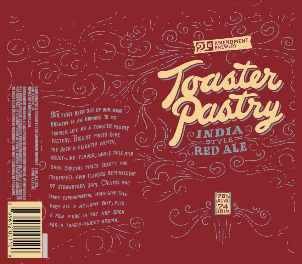 21st Amendment Toaster Pastry