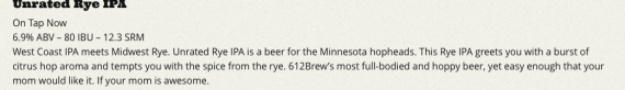 612Brew Unrated