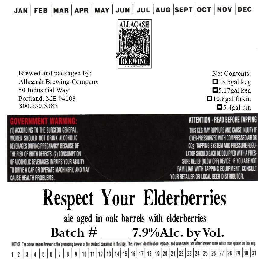 Allagash Respect Your Elderberries