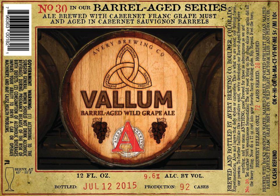 Avery Vallum Barrel-Aged Wild Grape Ale