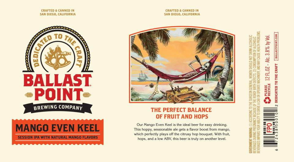 Ballast Point Mango Even Keel Cans