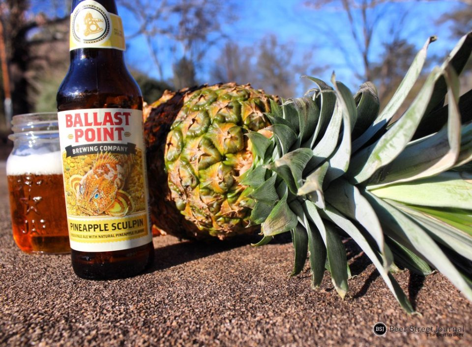 Ballast Point Pineapple Sculpin bottle
