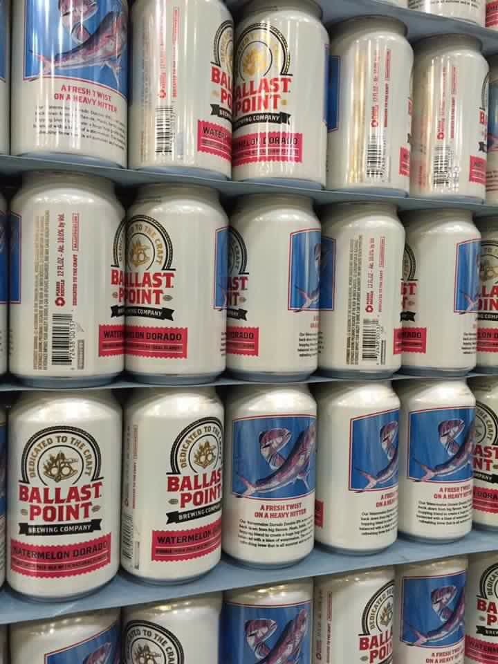 Ballast Point Watermelon Dorado cans