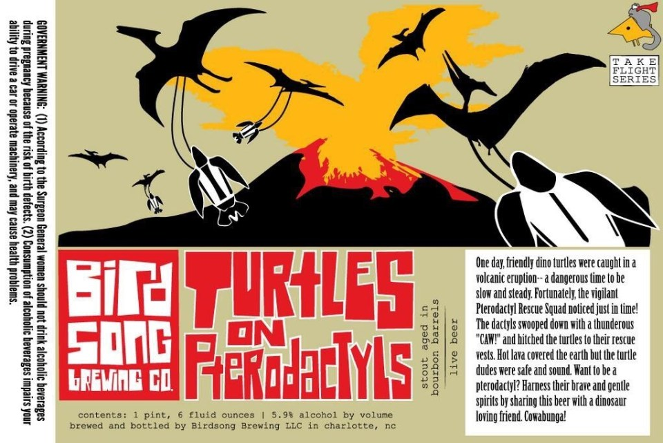 Birdsong Turtles on Pterodactyls
