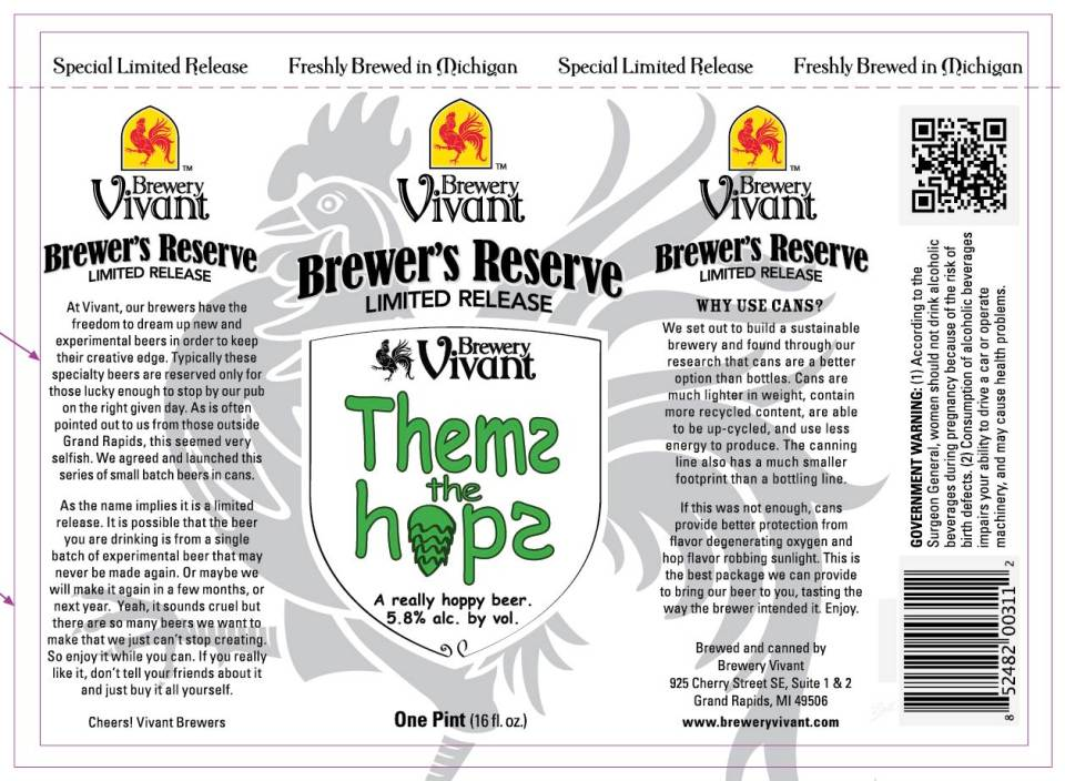 Brewery Vivant Thems the Hops