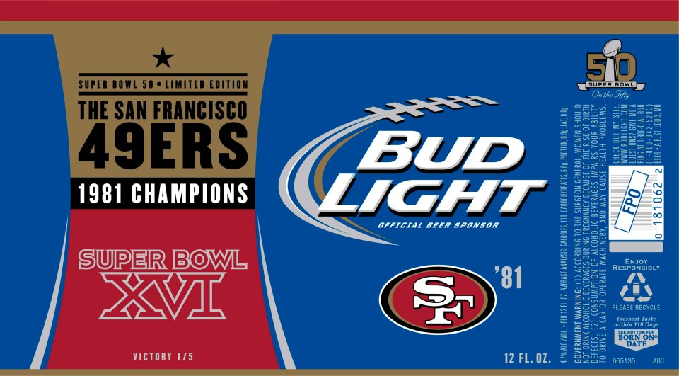 Bud Light 49ers 1981 Champions