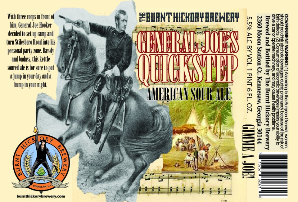 Burnt Hickory General Joe's Quickstep American Sour Ale
