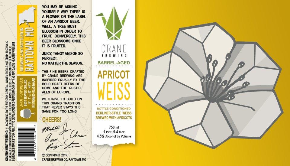Crane Brewing Barrel-Aged Apricot Weiss