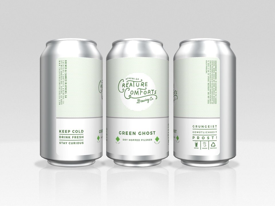 Creature Comforts Green Ghost