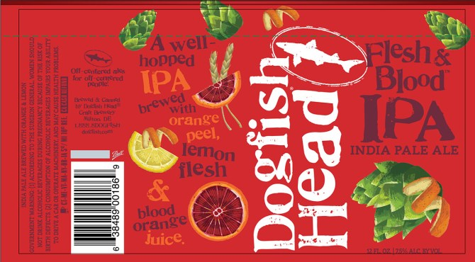 Dogfish Head Flesh & Blood IPA can