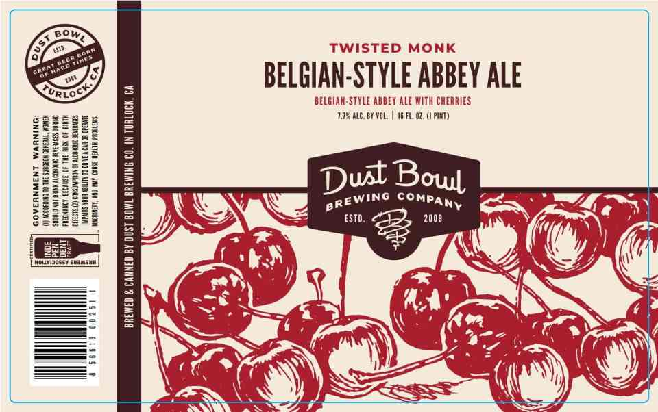 Dust Bowl Twisted Monk Belgian-Style Abbey Ale