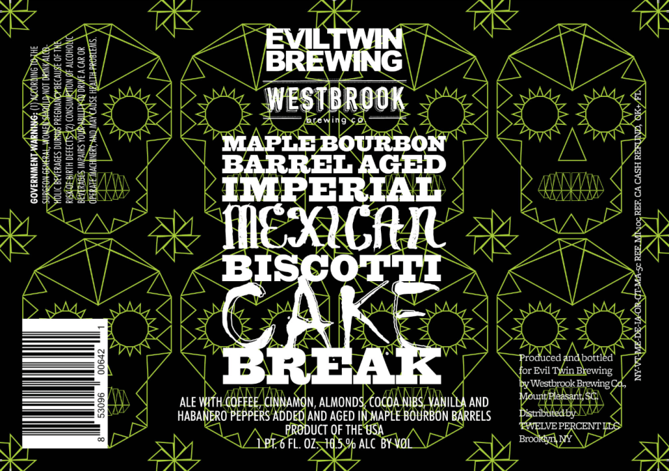 Evil Twin Maple Bourbon Barrel Aged Imperial Mexican Biscotti Cake Break