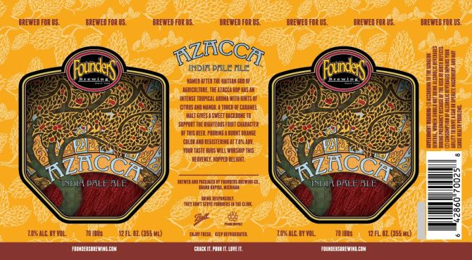 Founders Azacca cans