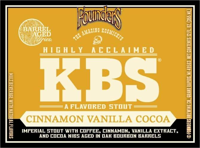 Founders KBS Cinnamon Vanilla Cocoa