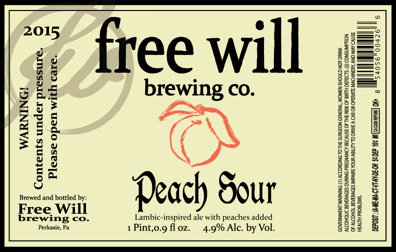 Free Will Brewing Peach Sour