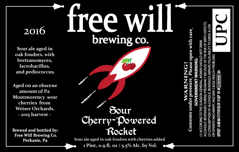 Free Will Brewing Sour Cherry-Powered Rocket