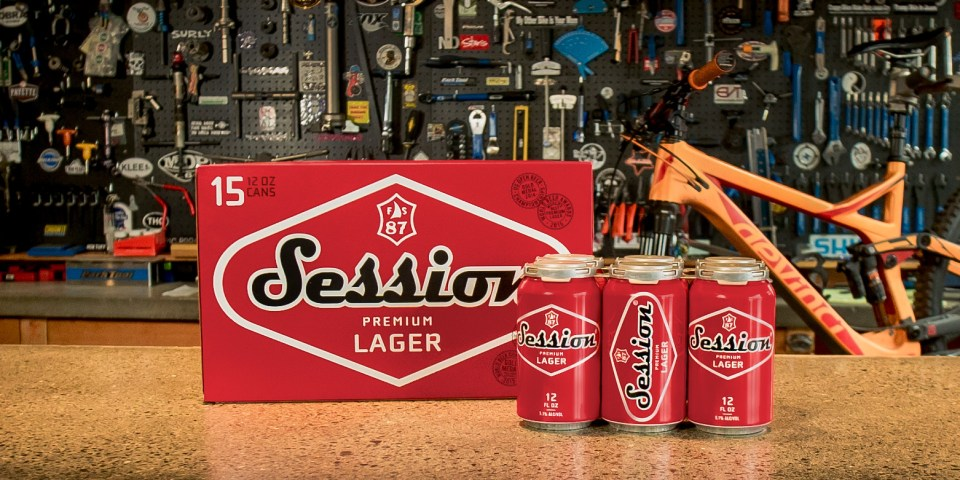 Full Sail Session Lager cans