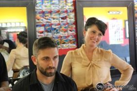 Susanne Wilcott & TJ. He looks possessed or constipated.